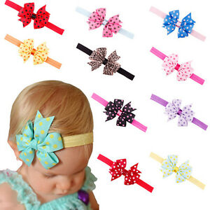 Newborn-Baby-Girls-Toddler-Bowknot-Dots-Stain-Hair-Band-Headband-Headdress-gi