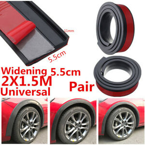 2Pcs-5-5cm-Car-Fender-Flare-Extension-Wheel-Eyebrow-Rubber-Trim-Protector-Stripe