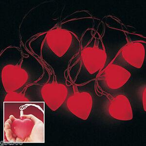 Image Is Loading 4 Sets Red Heart String Lights Valentine 039