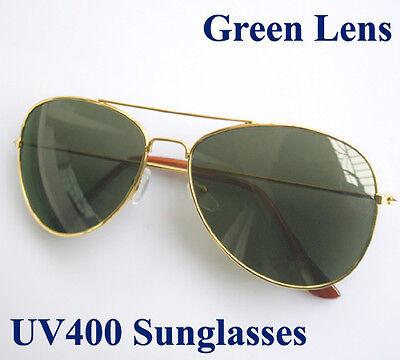 Sonnenbrille Fliegerbrille Pilotenbrille Gold farben UV400