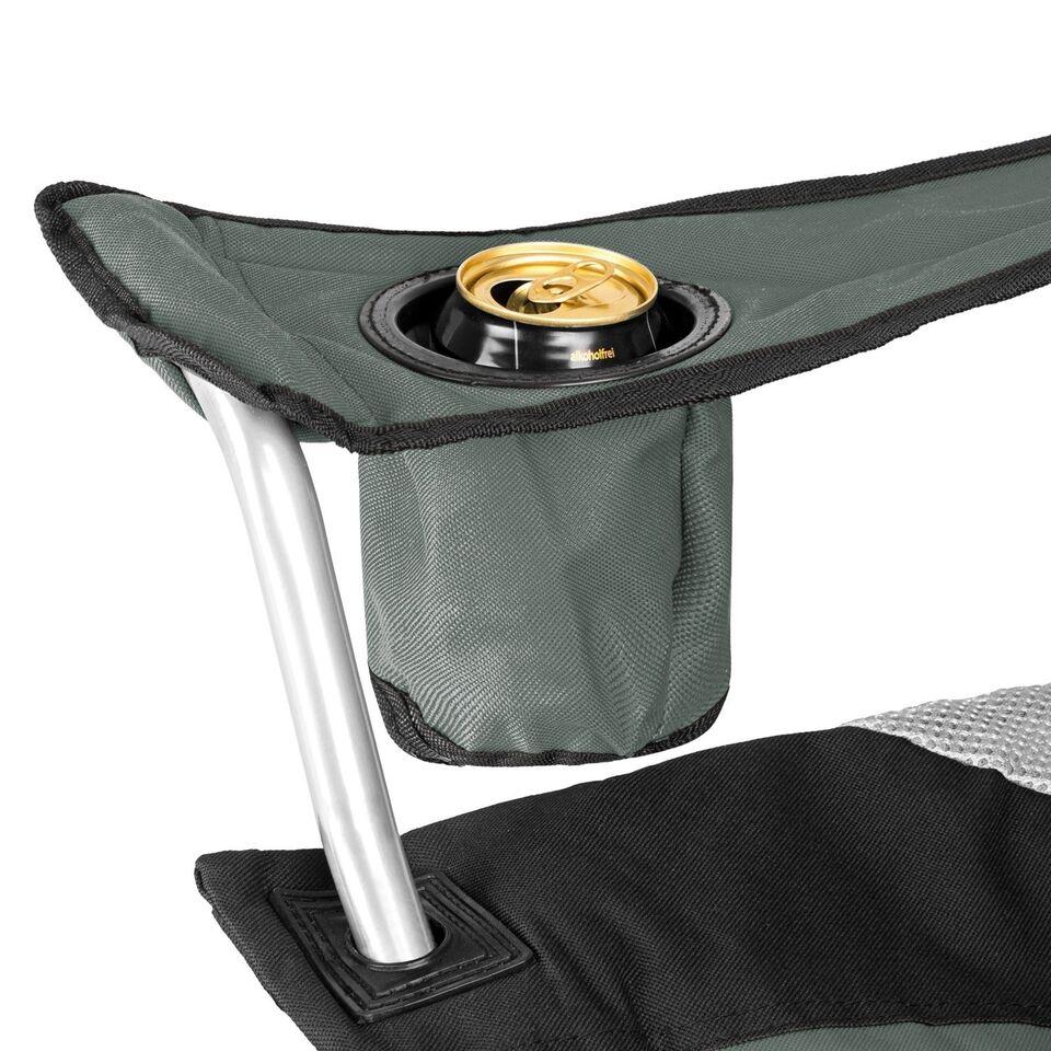 2 Polstret campingstole grå