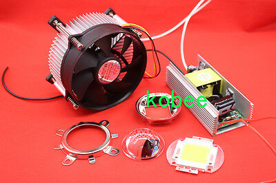 100W 100Watt High Power White LED Light + Heatsink Cooler+100W LED Driver+Lens