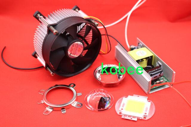 100W 100Watt High Power White LED Light + Heatsink Cooler+100W LED Driver+Lens