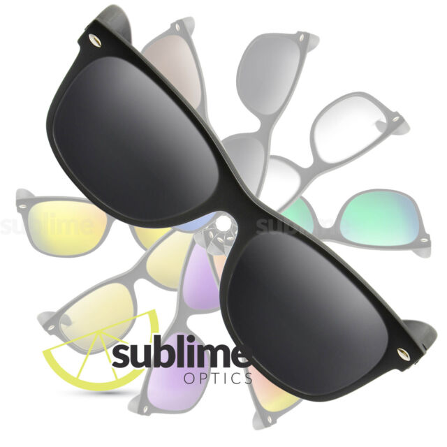 6071c9c17c0 Polarized Black Replacement Lenses for Ray Ban Rb2132 Wayfarer 55mm ...