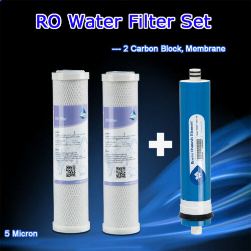 Compatible 24GPD RO Membrane Pre /& Post Filters Fit GE SmartWater FX12P GE FX12M