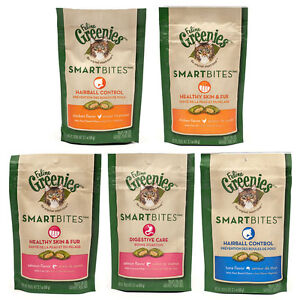 Greenies-Feline-SmartBites-2-Pack-Assorted-Flavors-Free-Shipping-in-USA