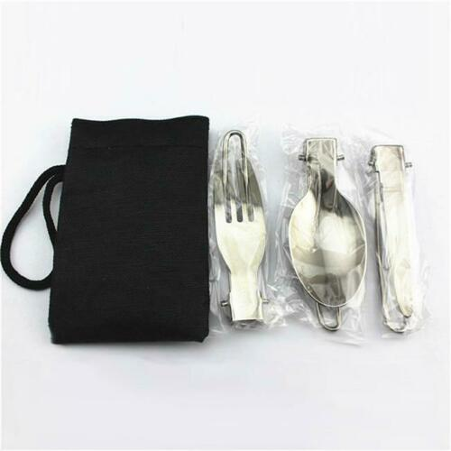 Stainless Steel Folding Picnic Traveling Camping Spork Spoon Fork Hot Sales YW