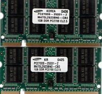 2gb (2x 1gb Kit) Hp-compaq Evo/presario Pc2100/pc2700 Ddr/ddr1 Laptop Ram Memory