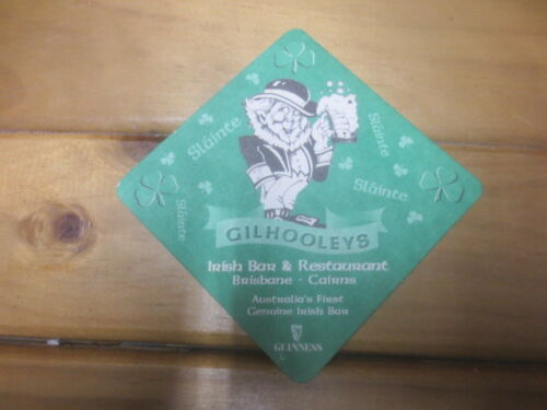 Gilholeys Bar Cairns,Special Issue BEER COASTER 1 only GUINNESS BREWERY