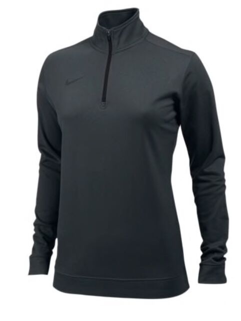 dc824aa898a6 Nike Women s M 1 2 Zip Dri-fit Grey Pullover Running Training 707448 ...