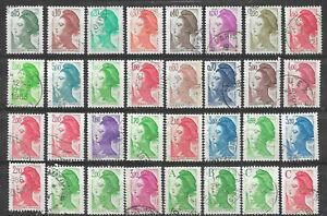 L067-32-Marianne-LIBERTE-GANDON-1982-1983-1984-1985-1986-1987-Lettre-A-B-C