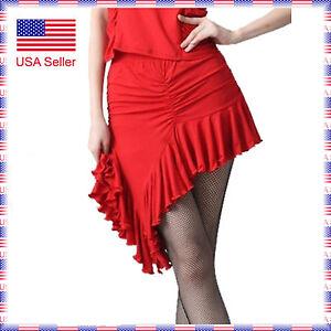 SCS2092RD (S-XXL) New Women Ballroom Latin Rhythm Salsa Swing Dance Skirt