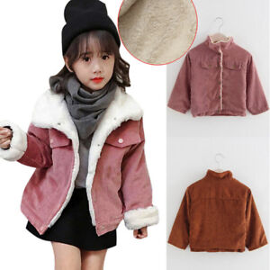 c6fe41977 Toddler Kids Girls Winter Warm Coat Thick Jacket Cotton-padded ...