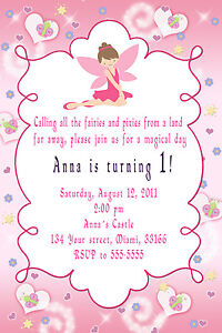 30 fairy invitations girl birthday party invites pink pixie image is loading 30 fairy invitations girl birthday party invites pink filmwisefo