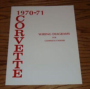 1970    1971       Chevrolet    Corvette Wiring    Diagram    Manual for