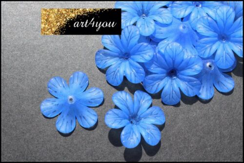 Perles acrylique fleurs fleurs gefrostet vert clair 33 mm x 8 mm Bijoux Bricolage À faire soi-même