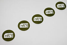 5 PVC VERDE NFC NXP ntag213 30mm Tag Adesivo: SAMSUNG NOKIA SONY LG