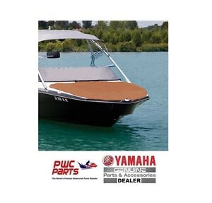 YAMAHA OEM Boat Bow Cover MAR-242BC-TP-NS Taupe/Beige (bow Snaps Uninstalled)