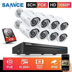 SANNCE POE IP Überwachungskamera 8CH 5MP NVR 1080P Kameras Audioüberwachung IP66