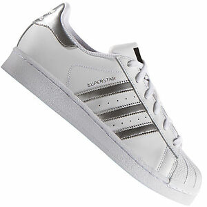 Dettagli su Adidas Originals Superstar BiancoArgento AQ3091 Sneaker da Uomo Sneakers Scarpe