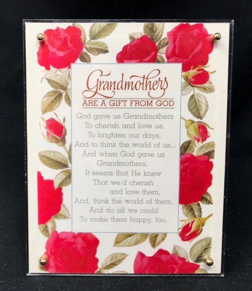 A Gift for Grandmother - A Keepsake Musical Plaque for Grandma 7  x 5