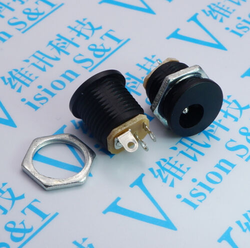 10x DC Power Outlet DC-022 5.5x2.1mm Diameter 5.5mm Inner Pin 2.1mm Connector