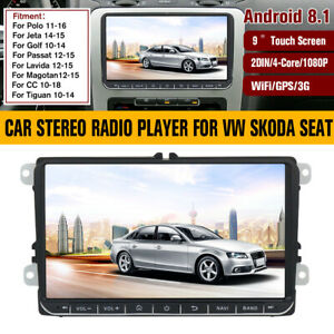 9-inch-Android-8-1-Car-Stereo-Radio-Player-2Din-GPS-Navigation-For-VW-Skoda-Seat