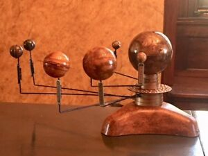 ARTIST ENHANCED SOLAR SYSTEM MODEL PLANETARIUM TWO MOTORS KINETIC ART ORRERY