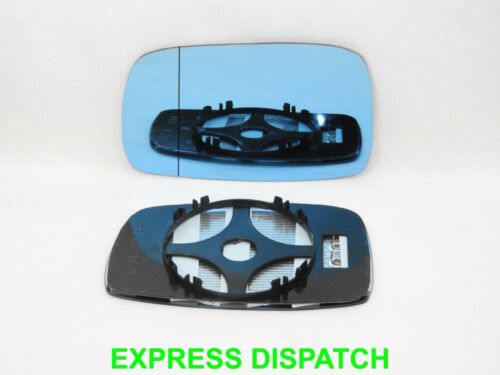 For  VW Corrado 1988-1995 Wing Mirror Glass Wide Angle Heated Left BLUE //1025