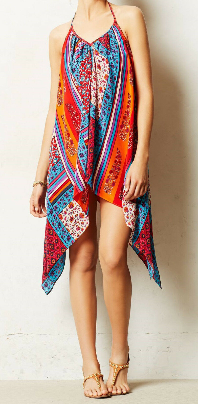 KAS New York Silk Alys Cover-Up Dress Size X-Small NW ANTHROPOLOGIE Tag