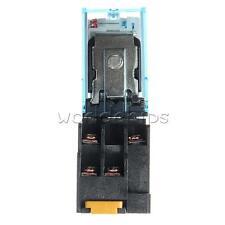 Relay LY2NJ AC 220V 10A With 8 Pin + OMRON LY2NJ HH62P JQX-13F/2Z Base Socket