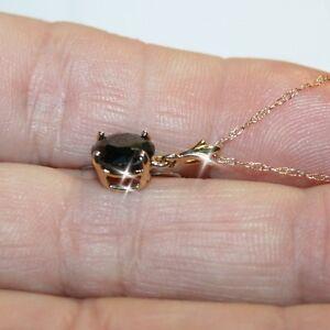 Black-Diamond-Alternatives-Pendant-Necklace-Solid-14k-Yellow-Gold