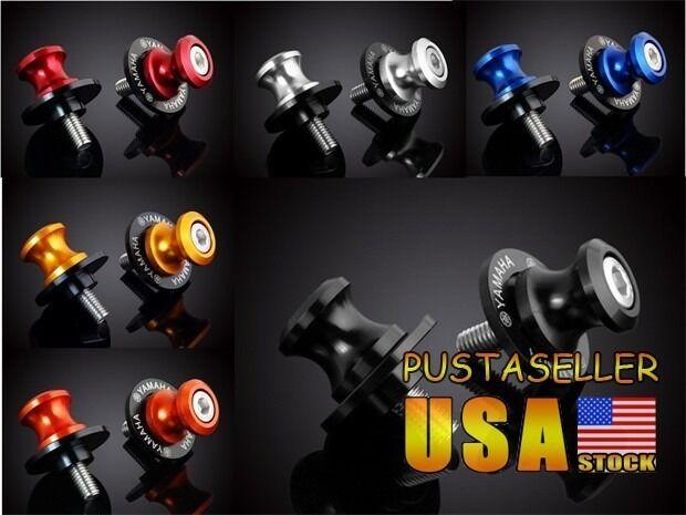 6MM CNC Motorcycle Swingarm Sliders Spools Universal For Yamaha all Year 6 Color