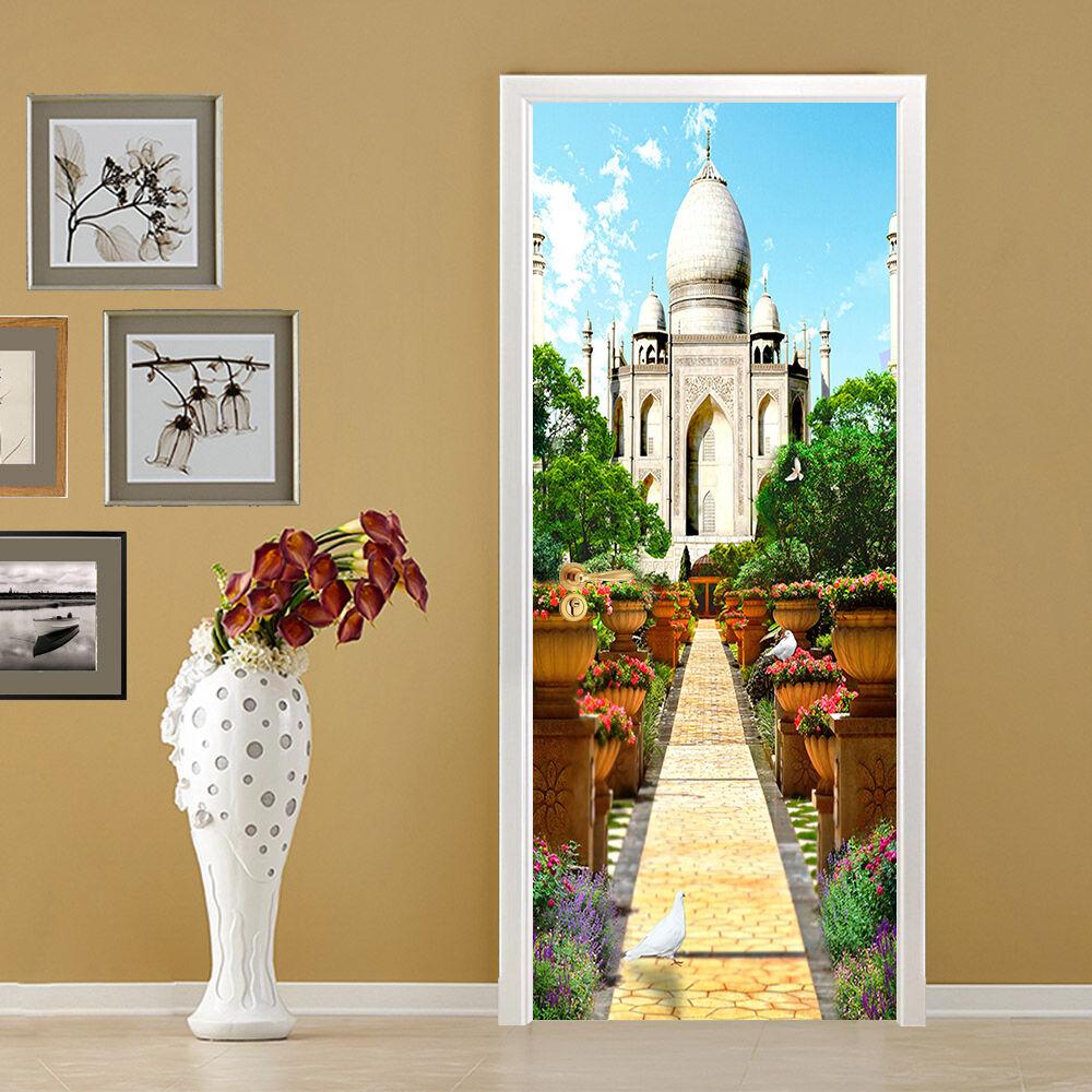 3D Die Burg 70 Tür Wandmalerei Wandaufkleber Aufkleber AJ WALLPAPER DE Kyra