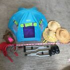 18 inch doll accessories lot. Breyer Tent,  Crutches, Shoes, Saddles, Hats
