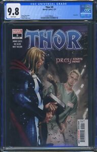 Thor 9 (Marvel) CGC 9.8 White Pages Donny Cates story Nic Klein art