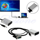 VGA To HDMI Output 1080P HD + USB Audio TV AV HDTV Video Cable Converter Adapter