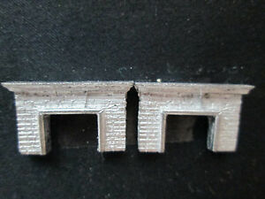 2 Dollhouse Miniature Unfinished Metal 144th Scale Wide Fireplace