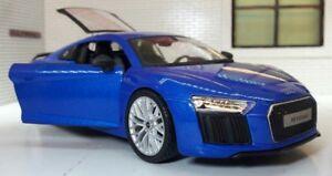 G-LGB-1-24-Echelle-2016-Bleu-Audi-R8-V10-31513-Detaille-Maisto-Voiture-Miniature