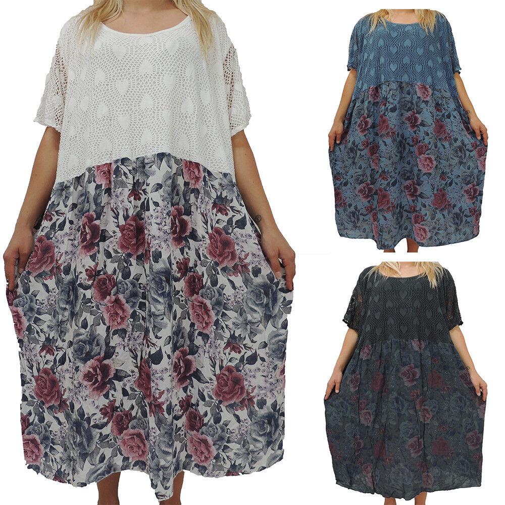 60 Kleid Größe 62 Tolles Übergröße Damen Blaumen 56 58 Kleider vNO80ywmnP