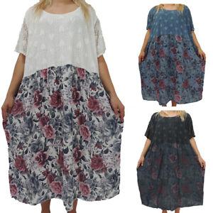 Tolles Damen Kleid Größe 52 54 56 58 Kleider Übergröße Blumen Muster Spitze  eBay