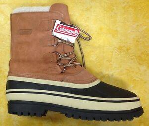 Coleman Men S Snow Boots Slush Tan Suede Leather Ebay