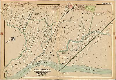 1913 BROMLEY NORTH ARLINGTON UNION TOWNSHIP BERGEN COUNTY NEW JERSEY ATLAS MAP