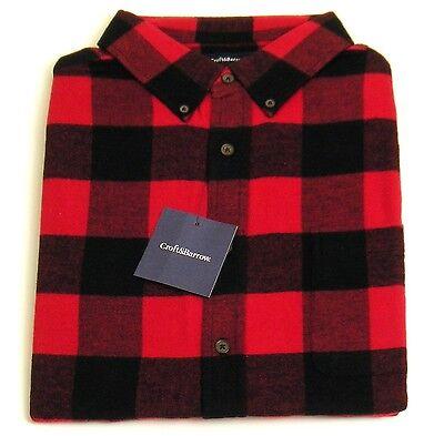 Mens Flannel Shirt XLT Classic Fit Red/Black Buffalo Plaid Croft & Barrow NWT