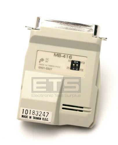 QVS MB416 MB-016 MB 416 10183247 Parallel Micro-Share Printer Adapter RJ11 DB25