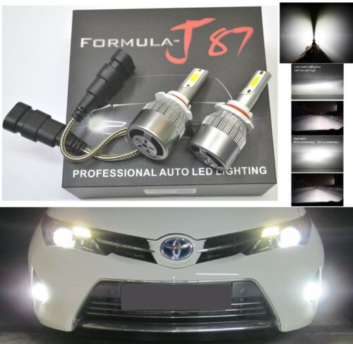 LED Kit C6 72W 9006 HB4 6000K White Two Bulbs Fog Light Replace Plug Play Lamp