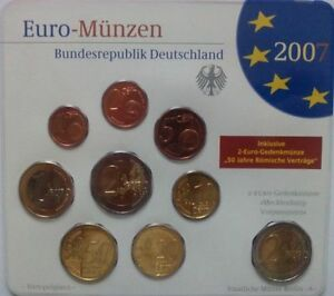 KMS Deutschland 2007 kompl. Jahrgang (A,D,F,G,J) in Stgl. im Blister