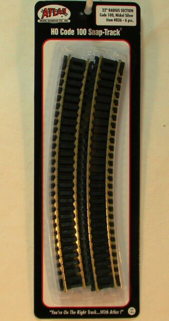 """NS Rail 1//3 Section R 18/"""" Radius 835 Atlas Code 100 Curved Snap-Track"""