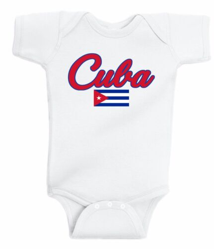 Cuba Bodysuit Soccer Baby Outfit Mameluco Infant Girls Boys T-shirt Kid