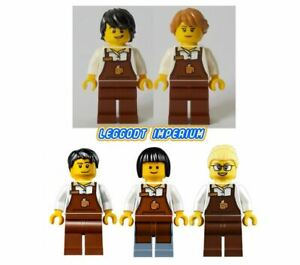 Lego-City-Minifigures-Barista-male-female-coffee-minifig-FREE-POST